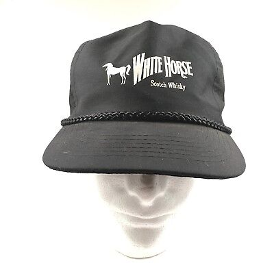 Vintage White Horse Scotch Whiskey Hat Trucker Cap