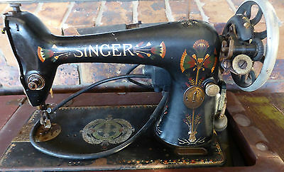 1929 Singer Sewing Machine - Was a treadle that was converted to electric