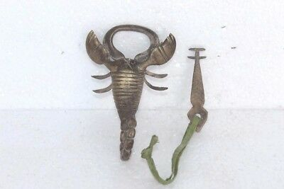 Unique Antique New Brass Scorpio Shaped Lock With Key Collectible PU-9