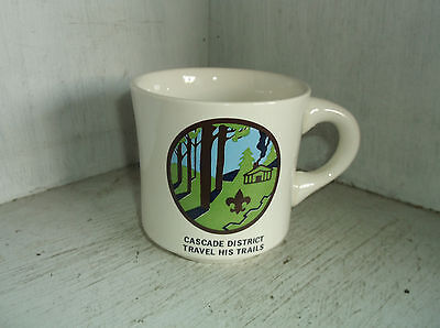 Boy Scouts of America BSA CASCADE DISTRICT Travel His Trails Mug Cup USA