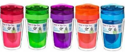 370ml SISTEMA Twist 'n' Sip TEA To GO - BPA FREE - RE-USEABLE (Choose Colour)