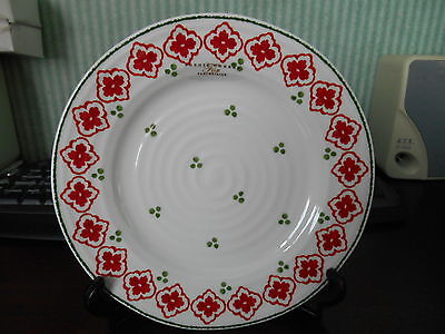 PORTMEIRION  SOPHIE CONRAN  SIDE PLATE RED , GREEN  AND WHITE  NEW  8in DIAMETER