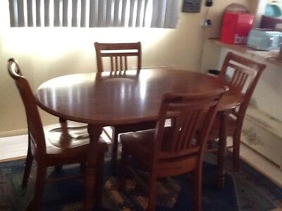 Dining suite Oval. Four seats. Very good condition.