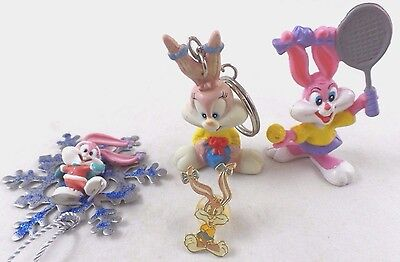 wb Babs Bunny Tiny Toons 4 LOT PVC Key Ring Ornie & Warner Brothers Looney tunes