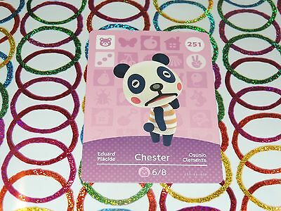 Amiibo Animal Crossing Card Chester no. 251 Top