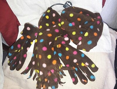 Ladies Hat Scarf And Glove Set Bnwt One Size