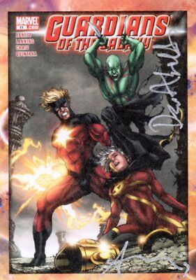 Guardians of the Galaxy 2014; Dual Signed Comic Cover Card GG-DA Abnett/Lanning