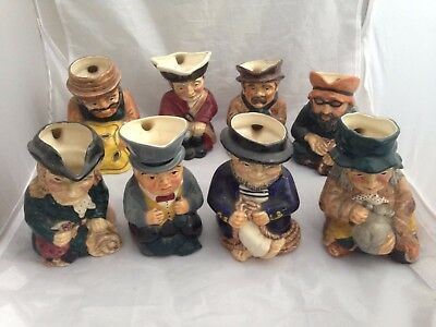 COMPLETE SET - 8 ROY KIRKHAM TOBY / CHARACTER JUGS - Tinker, Tailor, Soldier ...