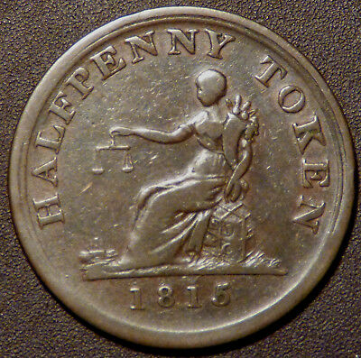Lower Canada Bale marked S.J.& Co 1815 Half Penny Token LC-56B1 BR1004