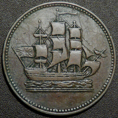 Canada PEI Ships and Colonies Token PE-10-28 B997
