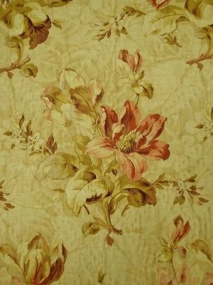 Beautiful Antique French Boutis Quilt, Stunning Floral Cretonne Design, 19th C