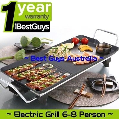 AU Electric Large Teppanyaki Table Top Griddle Plate BBQ Grill For 6 - 8 Person