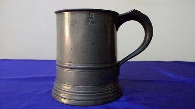 Victorian Pint Pewter Tankard (James Yates)