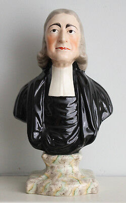 A Fine Antique c19th JOHN WESLEY Staffordshire Bust
