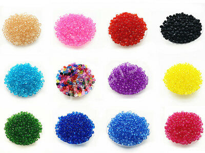 200/500 Pcs 6mm Rondelle Bicone Acrylic Spacer Loose Beads DIY Charms Finding