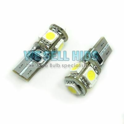 BMW E46 E90 E60 White LED 501 Side Light Blubs 5 SMD Xenon MINI COOPER S
