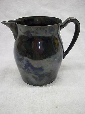 Vintage Pitcher Poole Silver Plate Authentic Reproduction no. 526