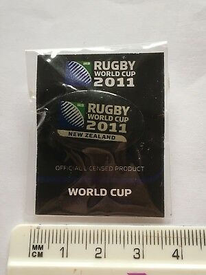 2011 New Zealand Rugby World Cup Pin Badge On Card (see pics) STILL SEALED