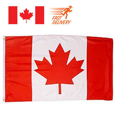 Large 3' x 5' High Quality 100% Polyester Canada Flag New Country Flag