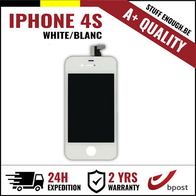 A+ Lcd Touch Screen Vitre Tactile Display/scherm/ecran White Blanc For Iphone 4S