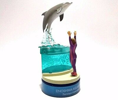 Japan KAIYODO Enoshima Aquarium Dolphin Animal Bottle Cap Figure Collectible