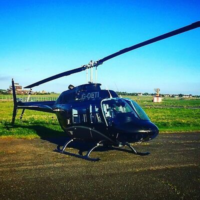 Helicopter Flying Lesson Gift Voucher - Manston Airport 60 Minute B206 JetRanger