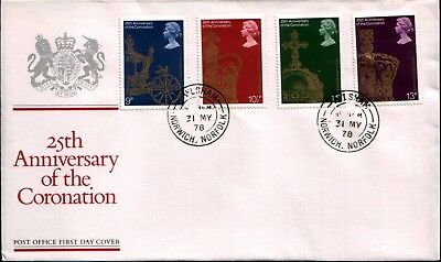 25th Anniversary of the Coronation Post Office First Day Cover 1978