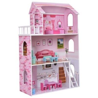 Barbie Size Dollhouse Furniture Miniature Playset Dream Play Doll House Toy Girl