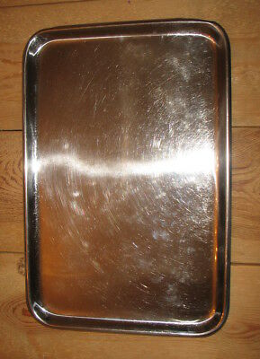 Chirurgisches Edelstahl Tray Tablett 33  cm  x 49 cm stainless surgical tray