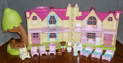 ELC Happyland Cherry Lane Cottage, First Dolls House with Figures and Furniture