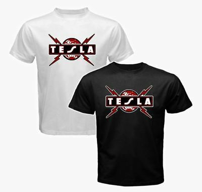 new TESLA Logo Tour Classic Rock band Def Leppar Poison men's S to 3XL