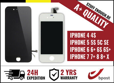 A+ LCD SCREEN SCHERM ECRAN VITRE TACTILE IPHONE 5 5S 5C SE 6 6S 6S 7 8 X Plus +