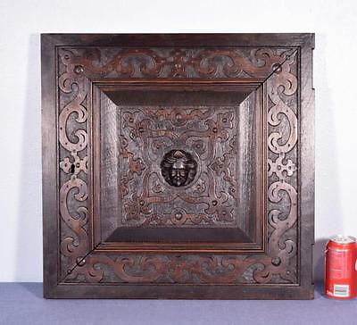 *French Renaissance Revival Antique Carved Panel/Door Oak Wood with Face 3