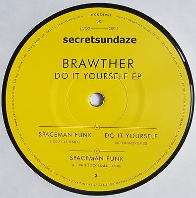 "Brawther - Do It Yourself EP - 12"" Vinyl - Secretsundaze"