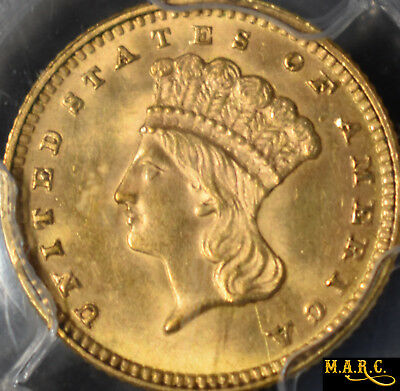1889 MS64 PCGS 1$ Indian Princess Gold Dollar, A Brilliant Little Gold Gem! MARC
