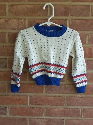 Vintage knit baby sweater holiday colors size 12mos?