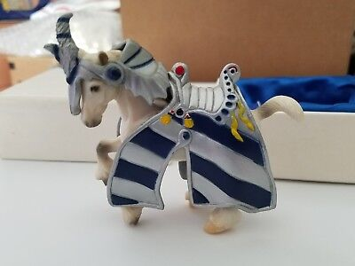 Breyer BREYERFEST RONIN 2005 Horse Stablemate Clydesdale in Medieval Tack Armor