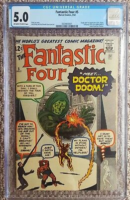 Fantastic Four#5 First appearance of Doctor Doom CGC 5.0 Solo doom movie coming?