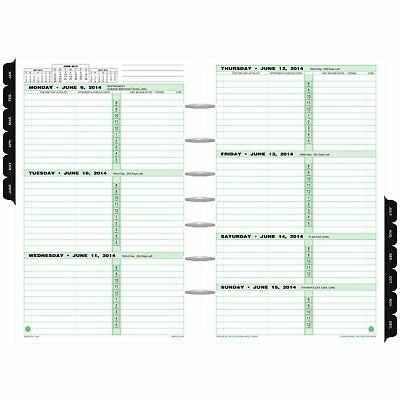 "Day-Timer Refill 2018, Two Page Per Week, January 2018 - December 2018, 5-1/2"" x"