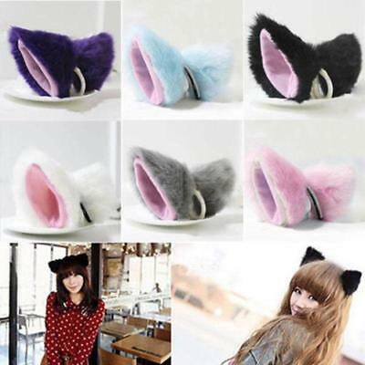 HALLOWEEN PARTY SET OF 2 PAIR OF CUTE CATS EARS HAIR CLIPS SLIDES GIRLS