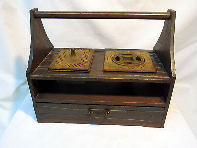 Portable Decorative Japanese Suzuribako Writing Box