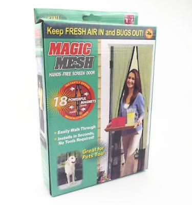 New Magic Mesh Mosquito Net Screen Door Hands-Free with Magnets (As Seen On TV)