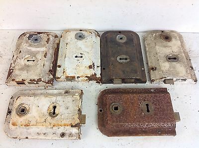 6 Vintage UNION Reclaimed Door Rim Locks Salvaged Old Project Architectural