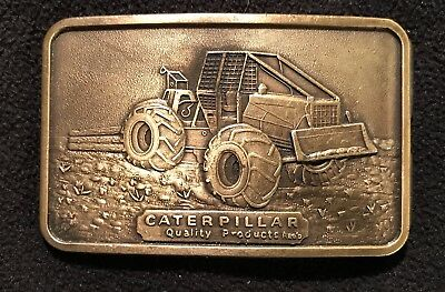 Caterpillar Tractor Vintage Canadian Issue  Belt Buckle