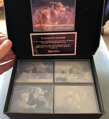 Harry Potter Ootp Sdcc Printing Plate Card Set Scarce Artbox