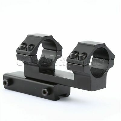 """One Piece 1"""" Dual Rings Flat Top Rifle Scope Mount Extended 11mm Dovetail Rail"""