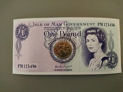 Isle of Man 1978 Worlds first one pound Coin.