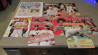 BOSTON RED SOX! - Set of 9, Classic, Baseball Magazines, BOSOX Covers, Pre-Owned