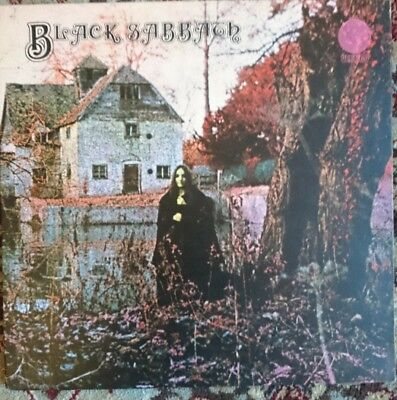 black sabbath self titled Lp 1st press WITH PHILIPS CREDITS.  vertigo swirl. VG+
