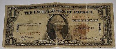 Silver Certificate 1935A $1 Dollar Bill Hawaii World War 2 WWII Note Paper Money